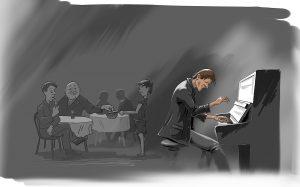 Пианист в ресторане